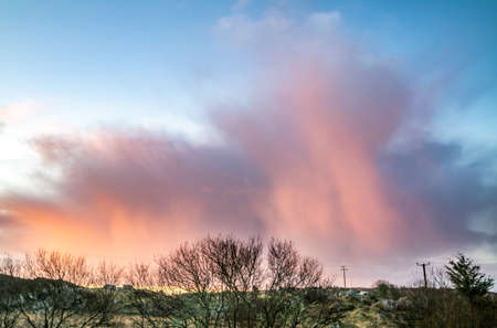 Stunning clouds above peatbog in County Donegal - Ireland Stock fotó