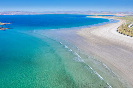 Aerial view of Portnoo in County Donegal, Ireland.