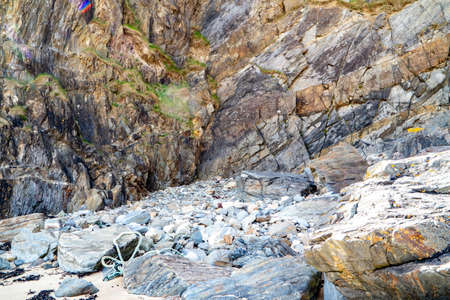 Rockfall at Silver Strand in County Donegal - Ireland Reklamní fotografie