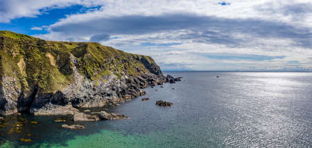 Aerial view of the cliffs at Silver Strand in County Donegal - Ireland Reklamní fotografie