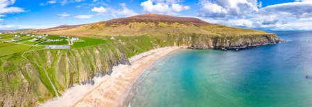 Aerial view of the Silver Strand in County Donegal - Ireland
