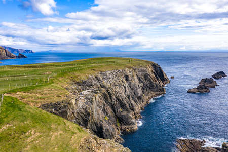 Aerial view of Malin Beg - County Donegal, Ireland Reklamní fotografie