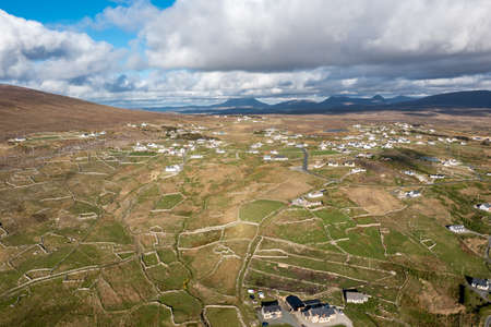 Aerial view of Gweedore - County Donegal, Ireland