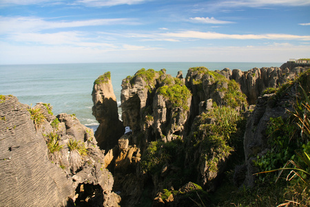 Punakaiki Pancake Rocks, Côte Ouest, Nouvelle-Zélande