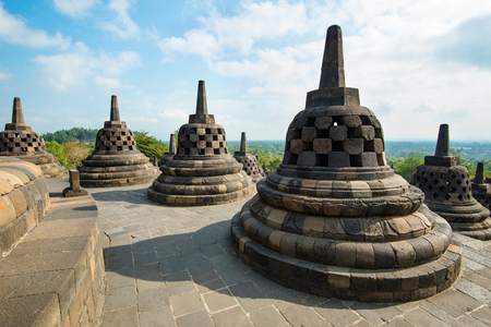 Borobudur, greatest Buddhist temple - Central Java, Indonesia.