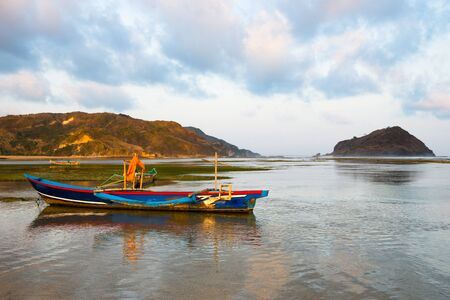 Traditional Lombok boat at sunset - Lombok, Indonesia