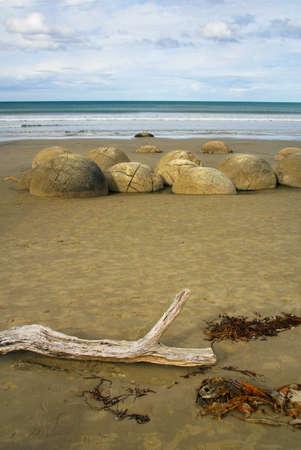 Moeraki Boulders - Coastal Otago, South Island, New Zealand Banque d'images