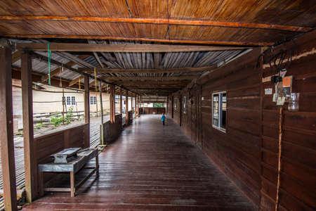 Longhouse In Sarawak, Malaysia Borneo Island