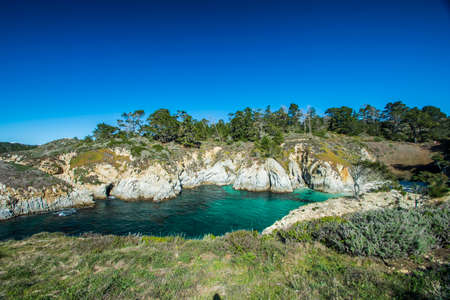 China Cove and Spectacular Rock Formations at Point Lobos State Natural Reserve.
