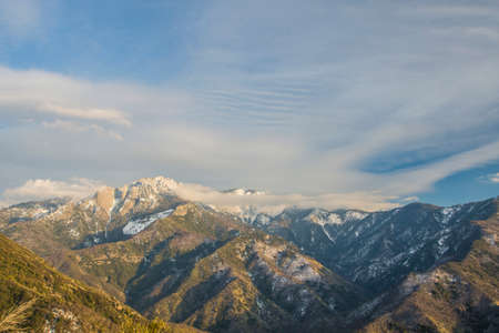 Views on Sequoia and Kings Canyon National Park, California. Moro Rock is a large granite dome also found in the Giant Forest area.