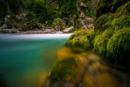 The green river Soca in the middle of the triglav national park, Slovenia Zdjęcie Seryjne