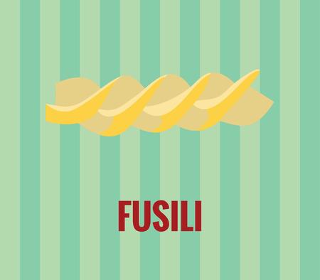 italian pasta: Dibujo de fusili pasta italiana Vectores