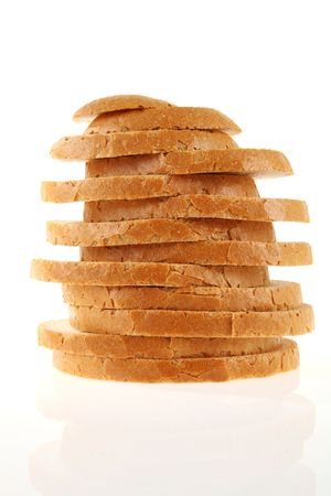 ligh: Fresh sliced loaf of bread photographed on ligh table. Stock Photo