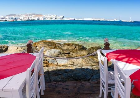 greek islands: Mykonos island, Cyclades, Greece Stock Photo