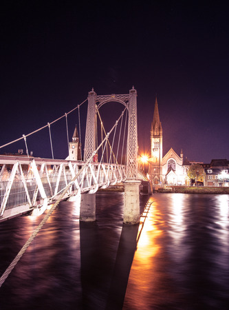 Inverness by night - the capital of Highlands of Scotland