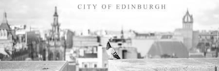 Edinburgh city view panorama, Scotland