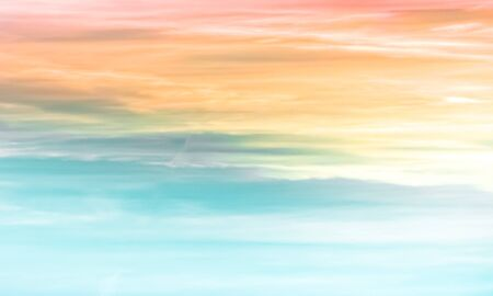 Sunset sky - colourful clouds and sky - blue, yellow, orange and red Banco de Imagens - 130597833