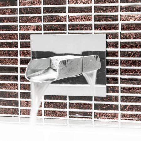 Modern faucet and wash basin in luxury bathroom Banco de Imagens - 130734140