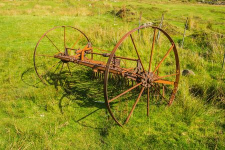 Rusty horse drawn plough