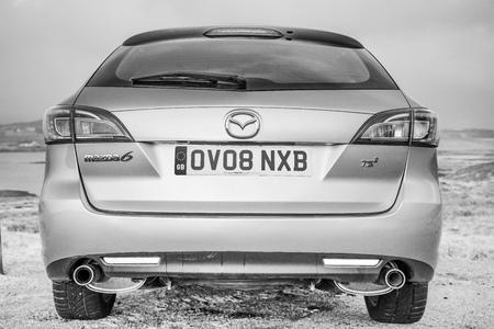 March 2015, Isle of Skye, Scotland: Mazda 6 estate GH - Black and White car photography