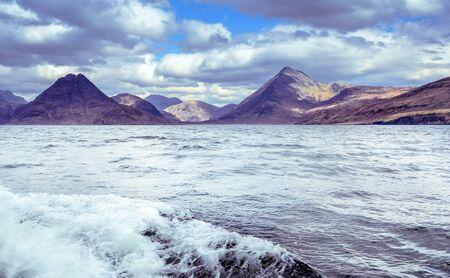 Cuillin mountain range seen from the boat - Isle of Skye