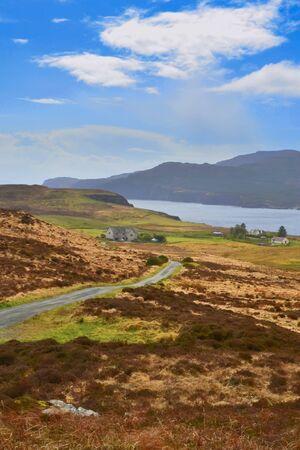 Snny day on Isle of Skye in Scotland Stock fotó