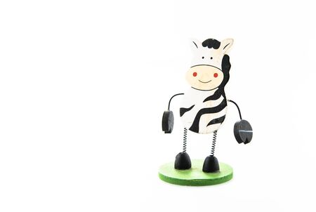 Cow figure isolated on white background
