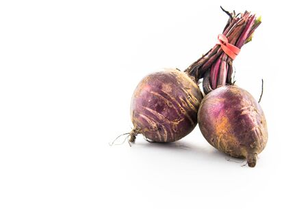 Beetroot bunch isolated on white background