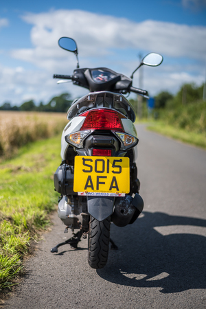 Stirling, Scotland - 15 August 2019: Honda Vision motorbike Banco de Imagens - 128987776