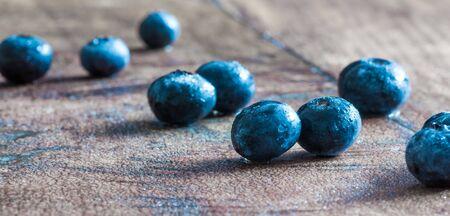 Blueberries are a popular, delicious fruit Banco de Imagens