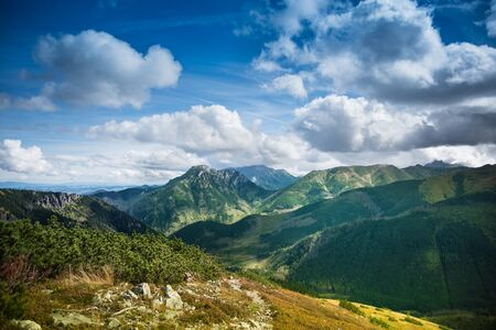 Tatra Mountains in Poland - view from Grzes summit over to Slovakia