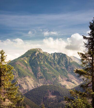 Kominiarski Wierch, Tatra Mountains Range in autumn scenery