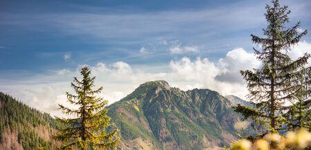 Mountains Landscape - Kominiarski Wierch in Tatra Mountains, the highest mountain range in the Carpathian Mountains Banco de Imagens