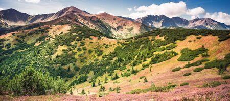 Autumn scenery in Tatra Mountains - Dlugi Uplaz - path from Rakon to Wolowiec