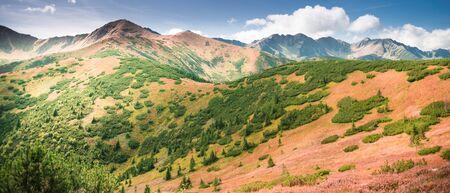 Western Tatra Mountains peaks in autumn landscape Banco de Imagens