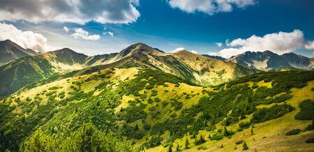 Trekking in Tatra Mountains - mountain path from Rakon to Wolowiec summit