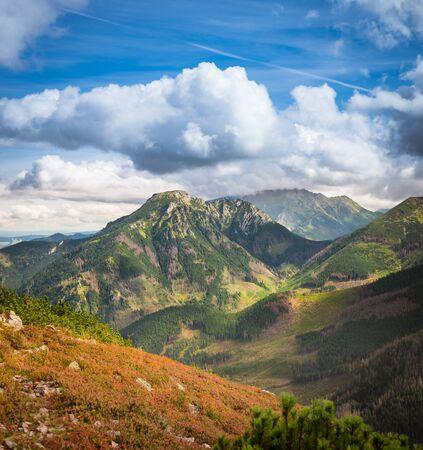 Colourful summits in autumn scenery - Tatra Mountains in Poland