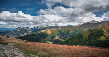Colourful Chocholow Valley in Polish Tatra Mountains