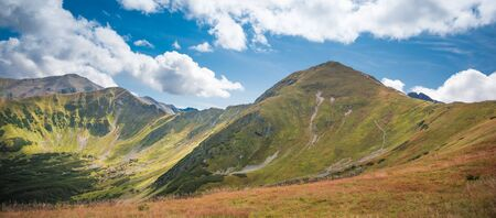 Wolowiec and Lopata in Western Tatra Mountains - Summer scenery in hills Banco de Imagens