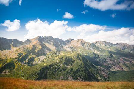 Western Tatra Mountains Panorama - Slovakian rocky summits: Banikov, Pachol, Banikovske Sedlo, Spalona Kopa, Salatin
