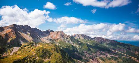 Slovakian Tatra Mountains - view from Polish side of the range Banco de Imagens