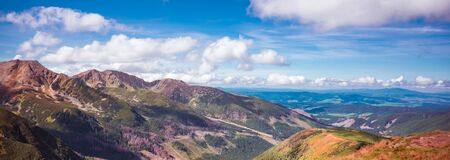 Tatra Mountains and Slovakian valleys - view from Polish side of the range