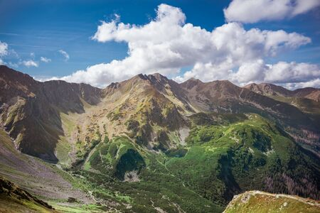 Tatra Mountains in sunny autumn day