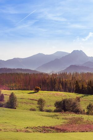Autumn in Tatra Mountains - misty mornings, colourful trees