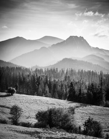 Tatra Mountains in Poland - black and white photography