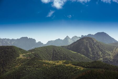 Tatra Mountains is a mountain range that forms a natural border between Slovakia and Poland Banco de Imagens