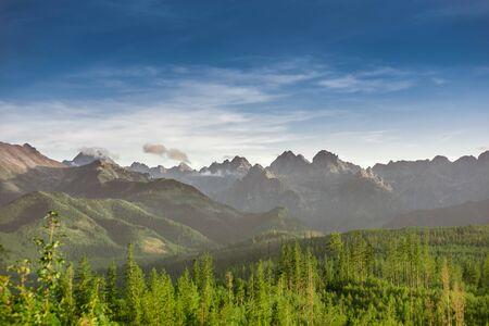 Spectacular summits of Tatra Mountains: Rysy, Gerlach, Ganek, Wysoka, Lodowy, Konczysta Banco de Imagens