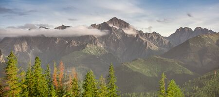 Tatra mountains - summits: Lodowy, Ostry Szczyt, Wielki Jaworowy Szczyt, Maly Jaworowy Szczyt, Sniezny Szczyt, Baranie Rogi, Durny Szczyt, Kolowy Szczyt