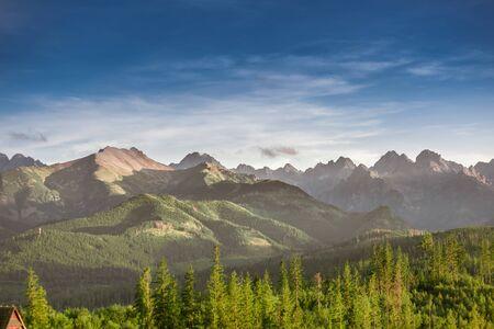 Rocky summits of Tatra Mountains - view from Glodowka