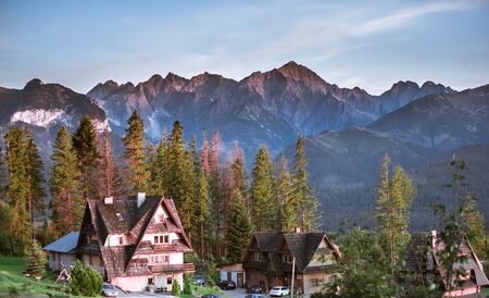 Mountains panorama with traditional houses - Poland